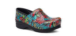 Dansko Professional Clog Deco Floral Patent Women's sizes 35-42/5-12 NEW!!!
