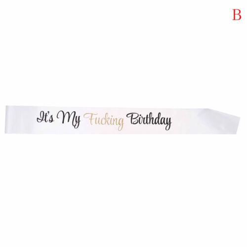 Creative It/'s My Birthday Satin Sash Birthday Sash Funny Birthday Party Decor JH