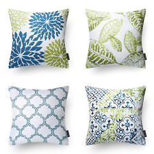 Assorted Design Decorative Throw Pillow Cushion Cover Indoor Home Decor Set of 4