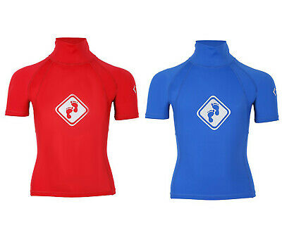 Two Bare Feet Kids Diamond Rash Vest Short Sleeve UV Protection Rashie