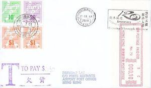 Details about Hong Kong Franking Machine 10 cents label HK Observatory  slogan K12 HK131922