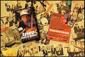 ERNEST-GOES-TO-SCHOOL-Original-1994-Trade-print-AD-promo-JIM-VARNEY-LINDA-KASH