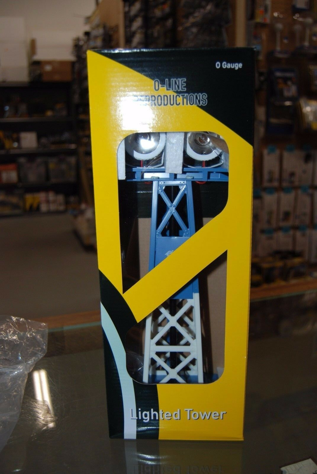 O Scale OLR704 Rail Yard Light Tower US Navy