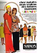 Publicité Advertising 1972 Les Vetements de grossesse futures maman Natalys