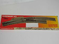 New Fleischmann 6143 HO Profi Pair R & L Curved Electric Turnouts Mint Code 83