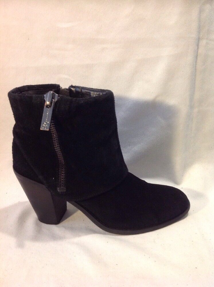 Jessica Simpson Black Ankle Suede Boots Size 37