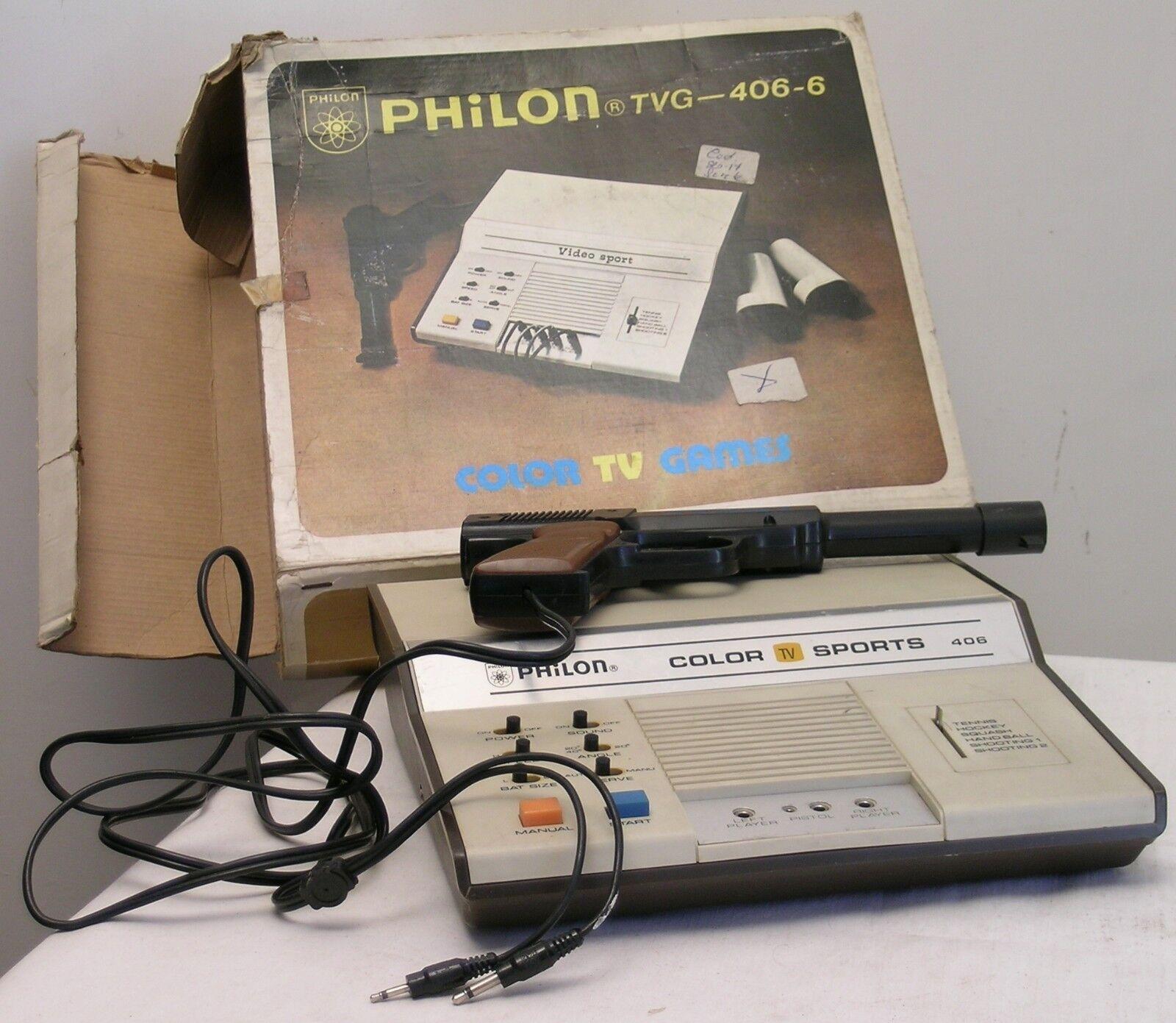 GIOCO TV EPOCA VINTAGE PHILON COLOR SPORTS TVG-406-6 COLOR TV GAMES MADE IN HONG