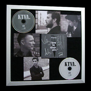 STEREOPHONICS-SIGNED-FRAMED-KEEP-VILLAGE-ALIVE-100-AUTHENTIC-FAST-GLOBAL-SHIP