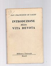 filotea introduzione alla vita devota - san francesco di sales - edizione bur