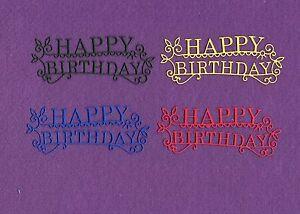 Fancy Happy Birthday Die Cuts