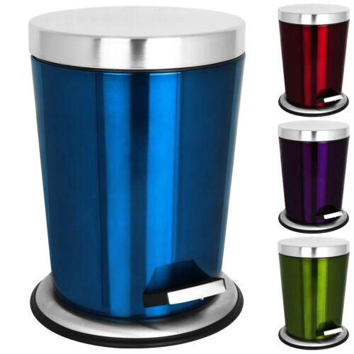 Edelstahl Kosmetikeimer Mülleimer Abfalleimer Papierkorb Müllsammler Bad 5 Liter