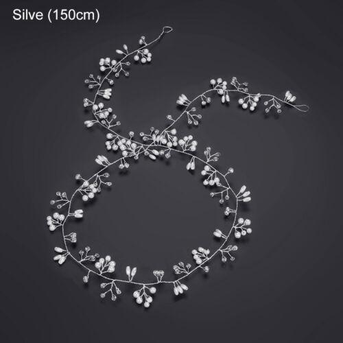 Tiara Bride Accessories Wedding Hair Vine Diamante Headband Pearl Crystal