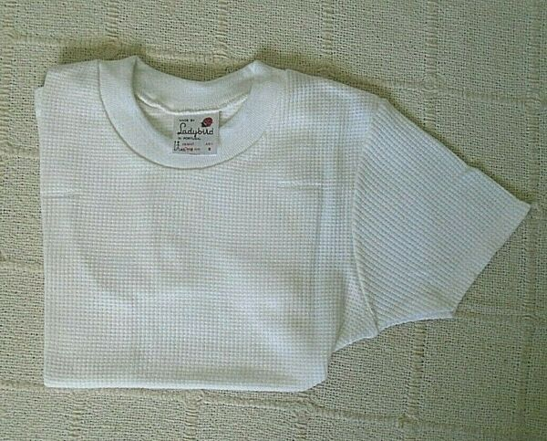 2019 úLtimo DiseñO Vintage Ladybird Aircell T-shirt-edad 6-blanco-cuello Elástico-nuevo-ver Escurrir