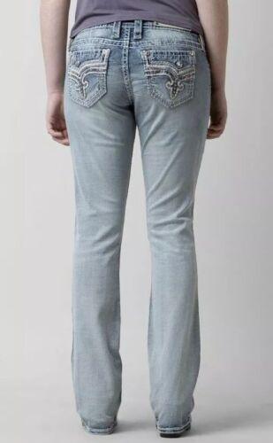 Rock Revival Betty Easy Boot Cut Jeans Women's Size 29 Light Blue NEW $169
