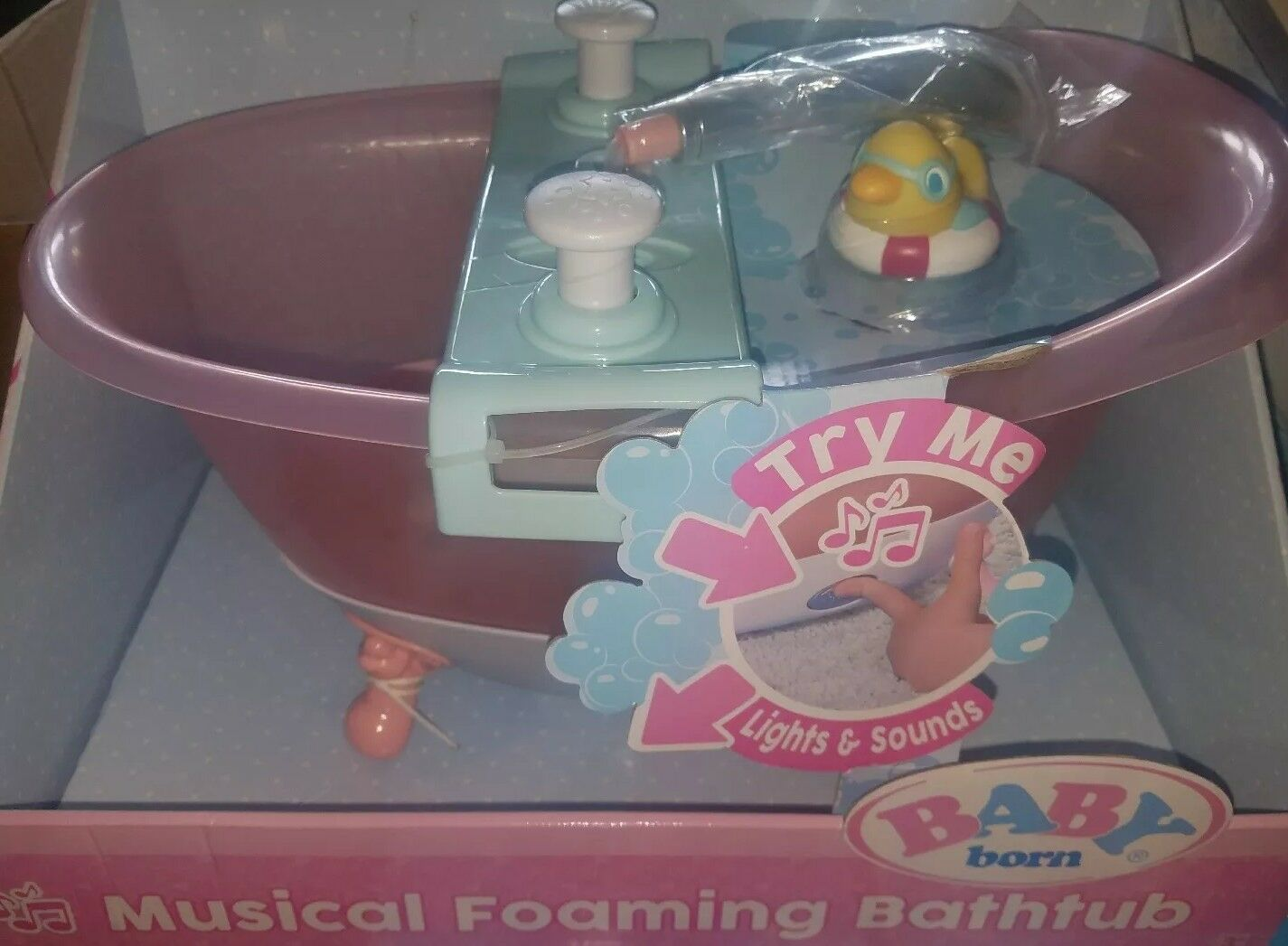 New 2017 BABY Born Musical Foaming Baby Doll Bathtub Bath Tub Playset