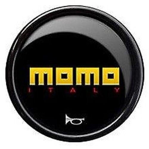 giallo logo, NUOVO ORIGINALE MOMO VOLANTE AUTO CLACSON A PRESSIONE pulsante