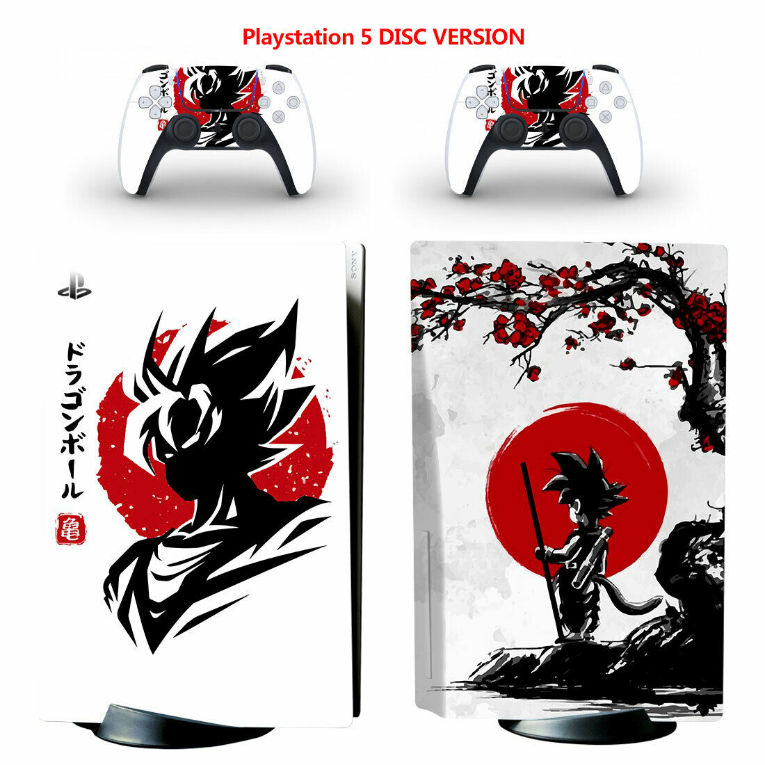 Dragon Ball Vinyl Skin Wrap Sticker for PS5 PlayStation 5 Console Disc Version