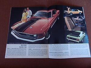 1970 70    MUSTANG// MACH 1  SALES BROCHURE