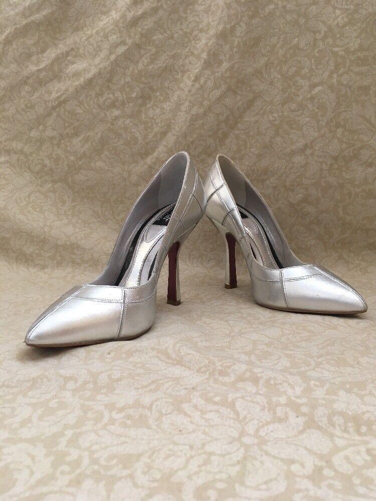Strutt Couture Kazashi G miroir en métal argenté, chaussures femmes, Taille 6 m