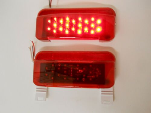 LED RV Camper Trailer Stop Turn Brake Tail Lights White Base License Light