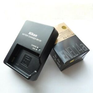 New En El14a Battery Amp Mh 24 Charger For Nikon D5300 P7800