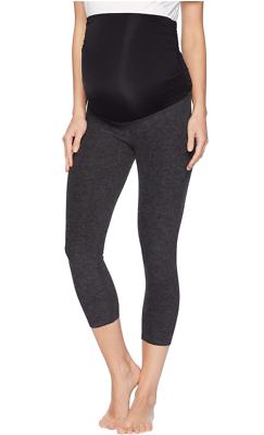 80aba5af19b050 Beyond Yoga Womens Black Charcoal Fold Down Maternity Capri Leggings Sz M  0906