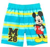 Infant Boys Disney Baby Mickey Mouse Striped Striped Swim Trunks Size 0/3m