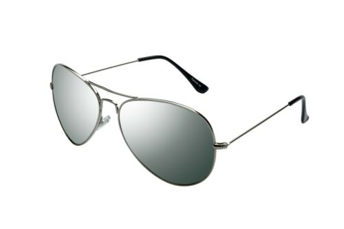 Alpland  Pilotenbrille  Sonnenbrille  Fliegerbrille  TOP GUN  Silber XXL Gläser