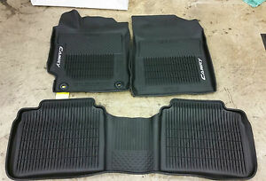 new all weather mats liners 2015 2016 2017 toyota camry 3 piece set ebay. Black Bedroom Furniture Sets. Home Design Ideas