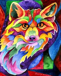 RAINBOW-FOX-8X10-Print-from-Artist-Sherry-Shipley