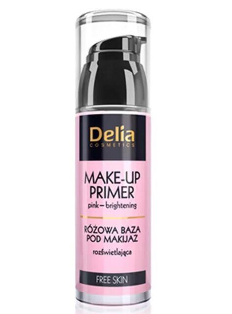 Delia Cosmetics Free Skin Make Up Primer Brightening Pink Base