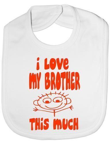 I Love My Brother This Much Baby Feeding Bib Gift