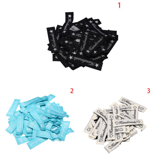 50X handmade labels tags fabric making sewing crafts for clothes decor DIYRDE