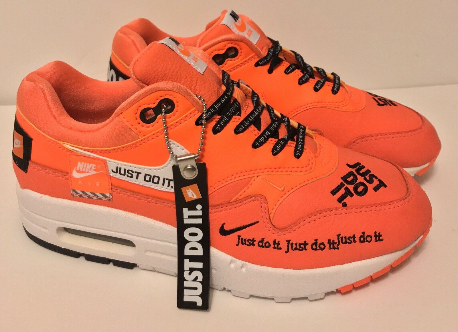 Nike Air Max 1 LX Just Do It Total Orange Running Shoes 917691 800 Size 12