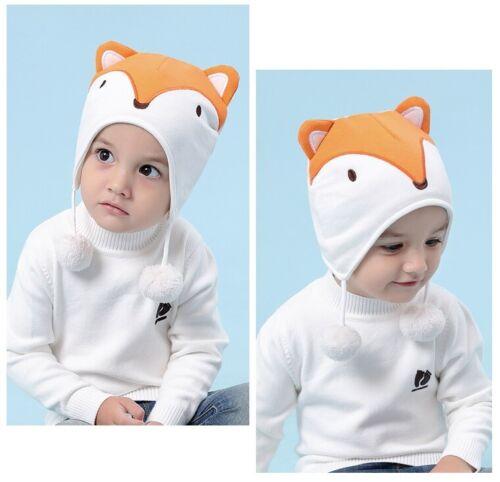Baby Kid Boy Girl Winter Cotton Fox Trapper Hat Fancy Dress Costume Age 6M-5Y