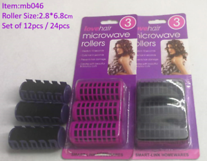 Image Is Loading 12 24 Pcs Hair Microwave Rollers Hot