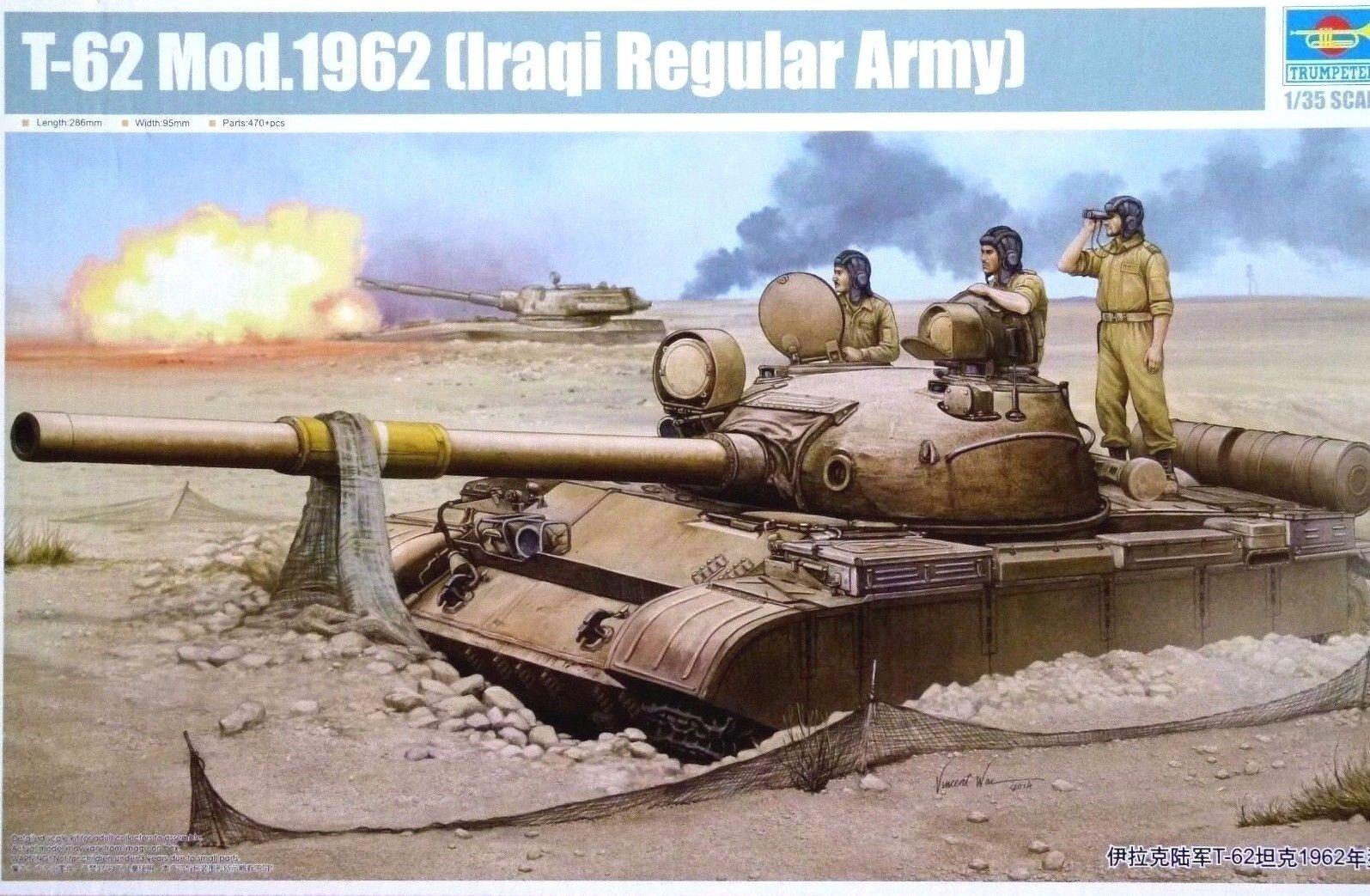 Trumpeter 1 35 T-62 Mod.1962 (Iraqi Regular Army) Tank Model Kit