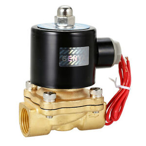 AC-220V-240V-Normal-Closed-Electric-Solenoid-Valve-Water-Air-1-2-034-Brass-N-C-AU