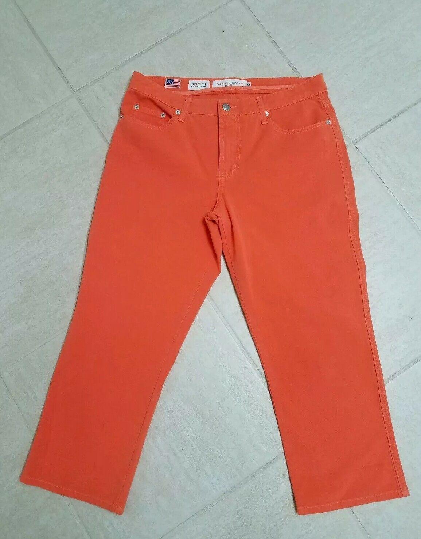 Fabrizio Gianni orange Jeans Stretch Mid-Rise Boot Cut Sz 10