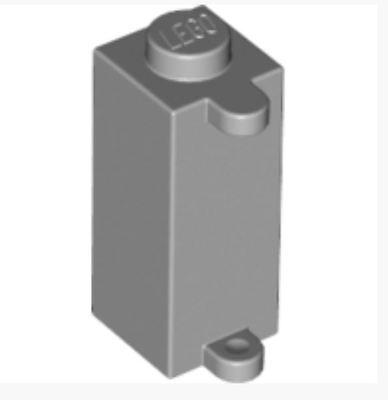 4249560/_LEGO Shutterholder 1x1x2 Lot of 2 /_ Medium Stone Grey 3581