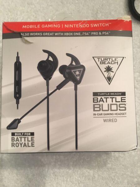 2019 Nieuwe Stijl Turtle Beach Battle Buds In-ear Gaming Headset Black Open Box