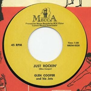 GLEN-COOPER-45-RE-JUST-ROCKIN-039-TOP-PRIMITIVE-MECCA-ROCKABILLY-2-SIDER
