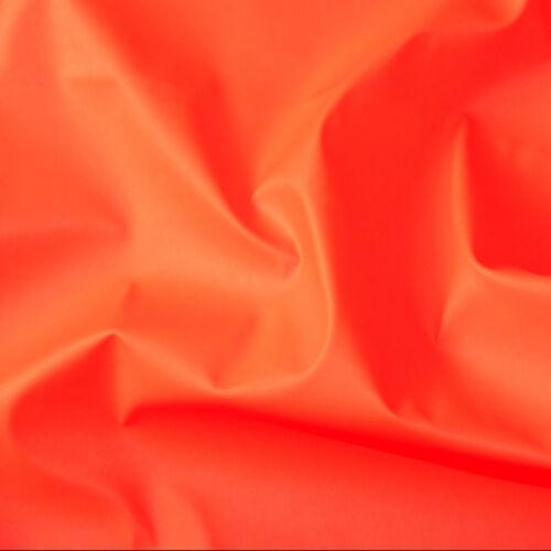 """PU FLUORESCENT VINYL 2-WAY STRETCH PLEATHER GOTH DRESS CATSUIT NEON ORANGE 54/""""W"""