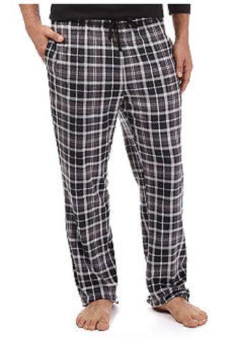 NWT Nautica Soft Silky Fleece PJ Lounge Pants Black/Gray Plaid XL $38.msrp