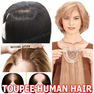 130% Topper Human Hair Piece for Bald Spots Women Top Pieces Wig ... c7ba5a517
