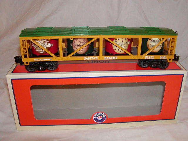 Lionel 6-83312 Santa's Cookie Vat Train Car O 027 Nuovo 2016 Christmas