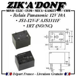 Relais Panasonic 12V 10A JS1-12V-F AJS1311F 1RT (NO/NC)