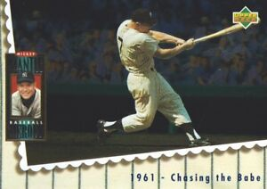 1994-Upper-Deck-Baseball-Mickey-Mantle-Heroes-68-1961-Chasing-the-Babe