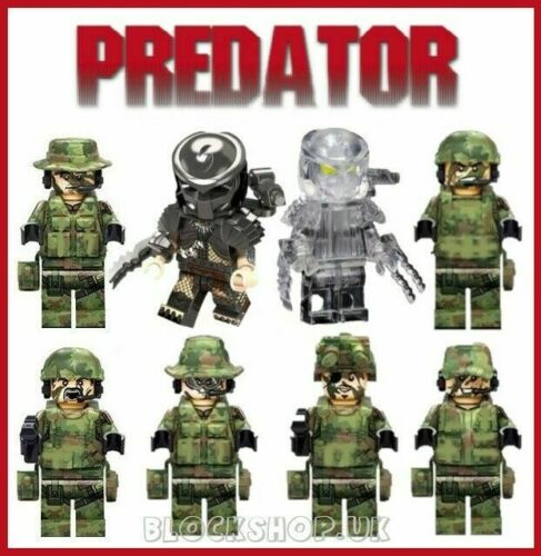 LIMITED EDITION-JUNGLE Army Predator Assalto Set-AVP film si adatta figura LEGO