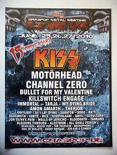 PUBLICITE-ADVERTISING :  GRASSPOP (1)  2010 Kiss,Motorhead,Channel Zero…